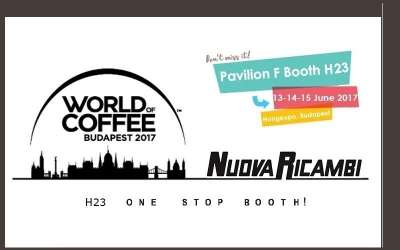 World Of Coffee 2017: Nuova Ricambi will be happy to meet you in Budapest