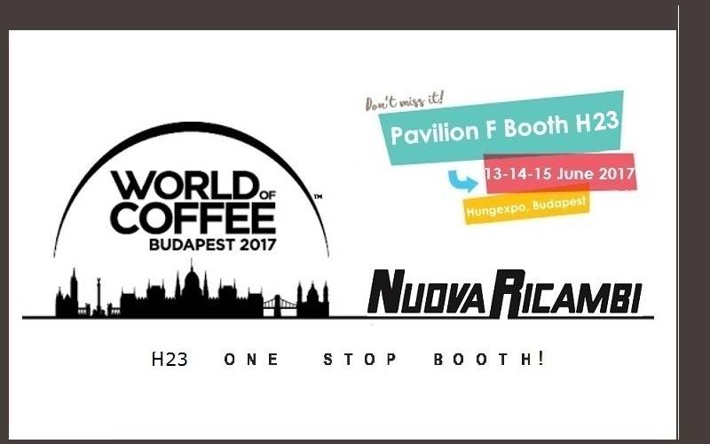 World Of Coffee 2017: Nuova Ricambi os espera a Budapest
