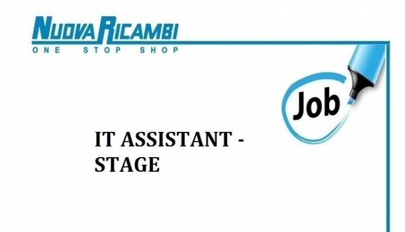 Offerta di lavoro: stage IT Assistant