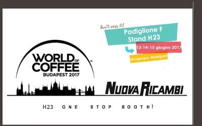 World Of Coffee 2017: Nuova Ricambi vi aspetta a Budapest