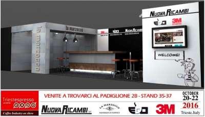 Dal 20 al 22 ottobre 2016 Nuova Ricambi Srl sarà aTriestEspresso Expo: venite a trovarci!