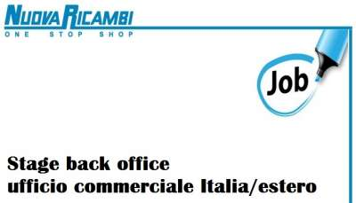 Stage back office ufficio commerciale Italia/estero