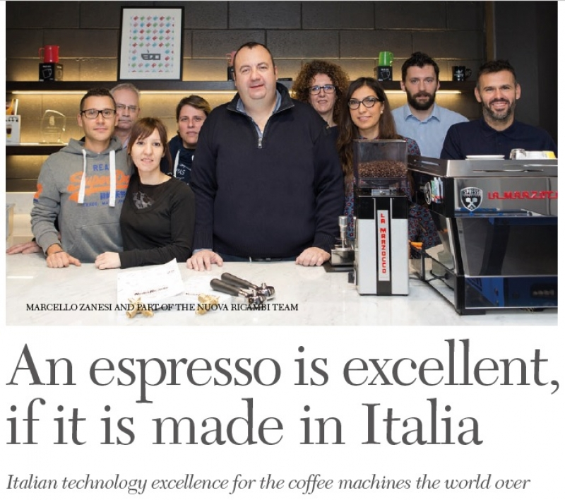 Italian technology excellence for the coffee machines the world over
