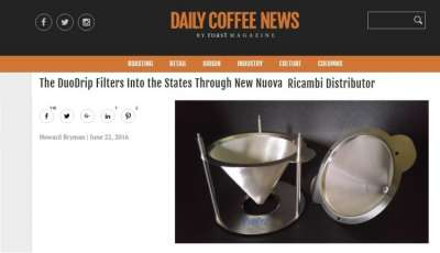 The DuoDrip Filters Into the States Through New Nuova Ricambi Distributor
