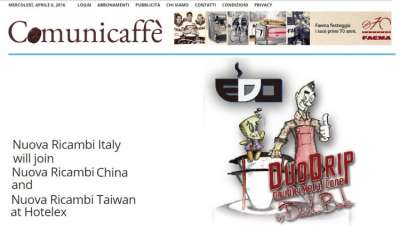 Nuova Ricambi Italy will join Nuova Ricambi China and Nuova Ricambi Taiwan at Hotelex