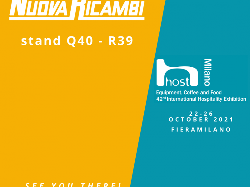 Nuova Ricambi is gearing up for Host. We look forward to meeting all of our customers, suppliers and friends again.