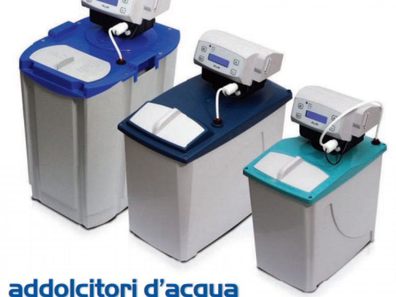 News on filtered water. Automatic water softeners with new ALIA valve