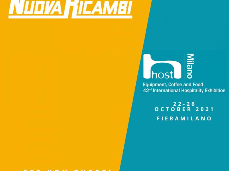 Nuova Ricambi si prepara per Host. Non vediamo l'ora di incontrare di nuovo tutti i nostri clienti, fornitori e amici.