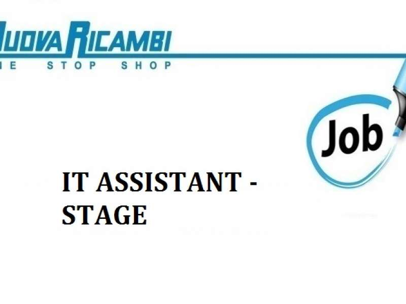 Offerta di lavoro: stage IT Assistant