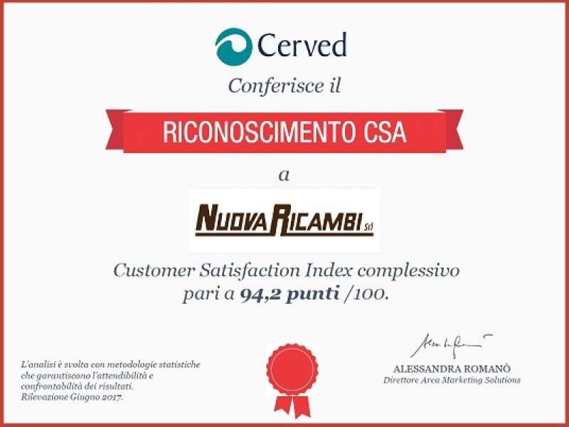 Scopri i risultati dell'indagine sui clienti Nuova Ricambi