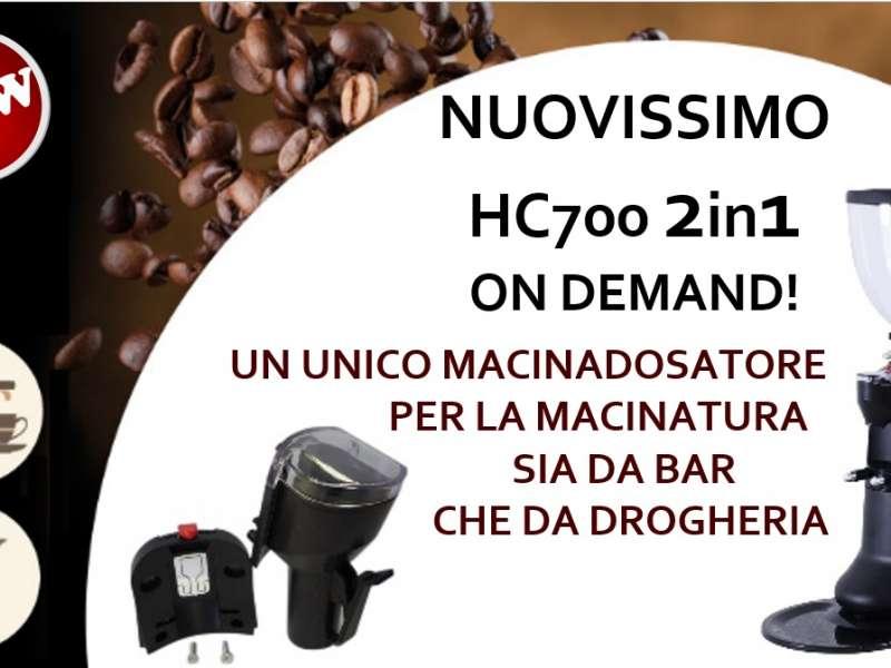 Macinadosatore HC700 con opzione 2 in 1!