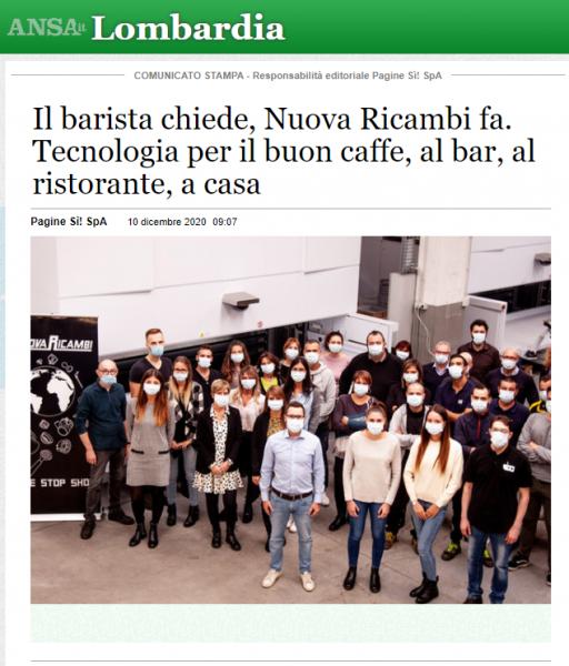 Il barista chiede, Nuova Ricambi fa. Tecnologia per il buon caffe, al bar, al ristorante, a casa