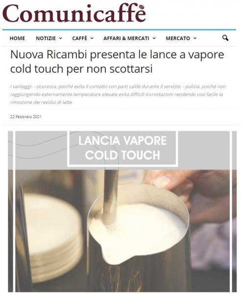 Nuova Ricambi presenta le lance a vapore cold touch per non scottarsi