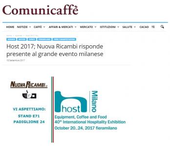 Host 2017: Nuova Ricambi risponde presente al grande evento milanese