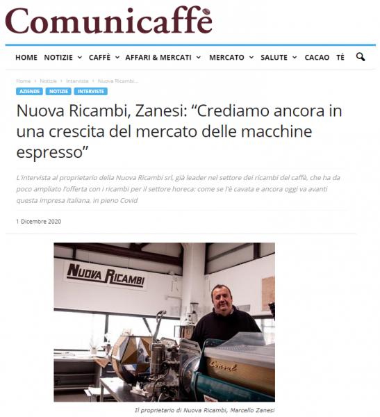 """Nuova Ricambi, Zanesi: """"Crediamo ancora in una crescita del mercato delle macchine espresso"""""""