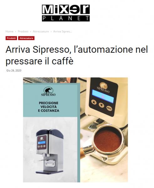 Arriva Sipresso, l'automazione nel pressare il caffè