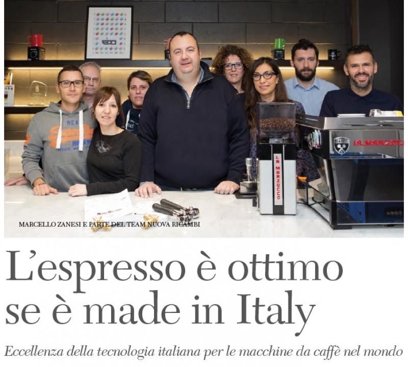 Eccellenza della tecnologia italiana per le macchine da caffè nel mondo