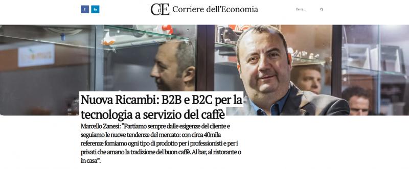 """Nuova Ricambi: B2B e B2C per la tecnologia a servizio del caffè Marcello Zanesi: """"Partiamo sempre dalle esigenze del cliente e seguiamo le nuove tendenze del mercato: con circa 40mila referenze forniamo ogni tipo di prodotto per i professionisti e per i pr"""