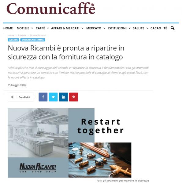 Nuova Ricambi è pronta a ripartire in sicurezza con la fornitura in catalogo
