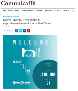 Nuova Ricambi: il calendario di appuntamenti e workshop a Host Milano
