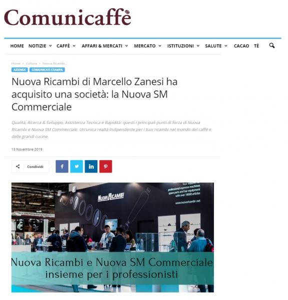 Nuova Ricambi di Marcello Zanesi ha acquisito una società: la Nuova SM Commerciale