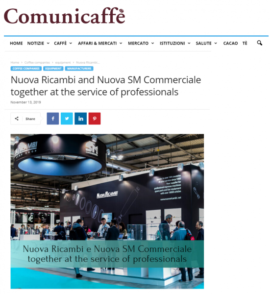 Nuova Ricambi and Nuova SM Commerciale together at the service of professionals