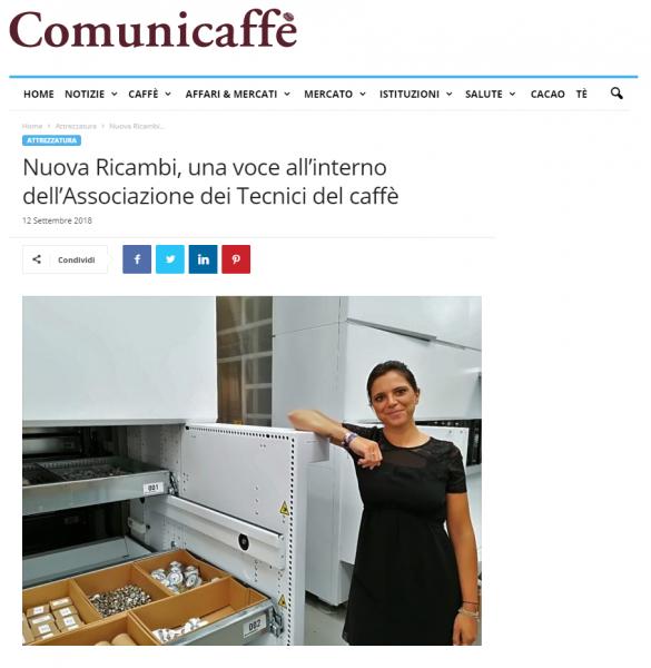 Nuova Ricambi, una voce all'interno dell'Associazione dei Tecnici del caffè