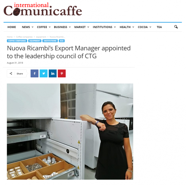 Nuova Ricambi's Export Manager appointed to the leadership council of CTG