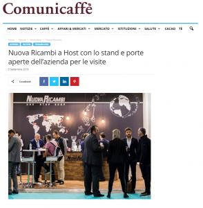Nuova Ricambi a Host con lo stand e porte aperte dell'azienda per le visite