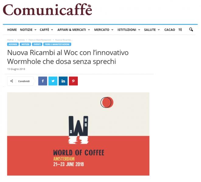 Nuova Ricambi al Woc con l'innovativo Wormhole che dosa senza sprechi