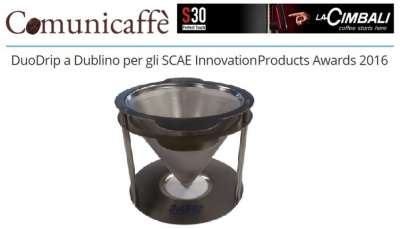 DuoDrip a Dublino per gli SCAE Innovation Products Awards 2016