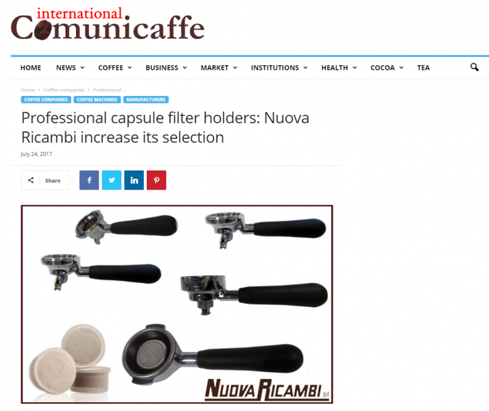 Professional capsule filter holders: Nuova Ricambi increase its selection