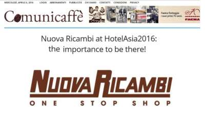 Nuova Ricambi at HotelAsia2016: the importance to be there!