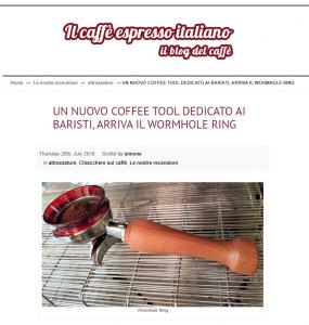 UN NUOVO COFFEE TOOL DEDICATO AI BARISTI, ARRIVA IL WORMHOLE RING