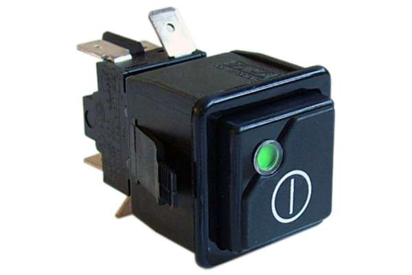 BLACK BIPOLAR SWITCH 0-1 16A 250V