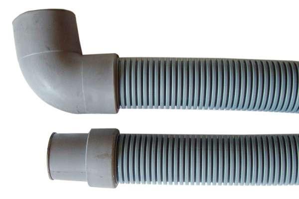 TUBO SCARICO Ø30/24mm 1500mm 1 CURVA