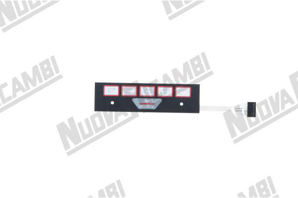 MEMBRANA PULSANTIERA FAEMA E98/A RESTYLING/CIMBALI M27 176X49 mm FLAT 8 PIN