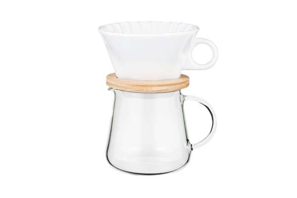 COFFEE POT AND DRIPPER SET 600ml