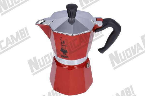 MOKA LA CHICCA 3CUPS RED