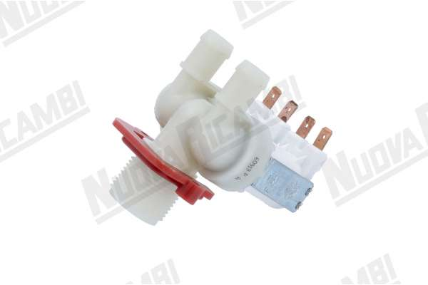 DOUBLE SOLENOID VALVE 180° V220-50/60 PIPES FITTING Ø 14mm